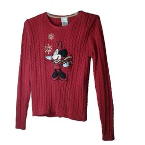 Minnie Mouse Christmas Sweater Disney Store Med